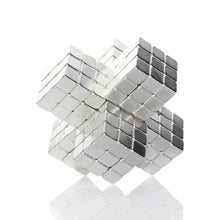 Load image into Gallery viewer, Original 4MM 125PCS Silver Buckycubes Magnetic Building Blocks Cubes Toy