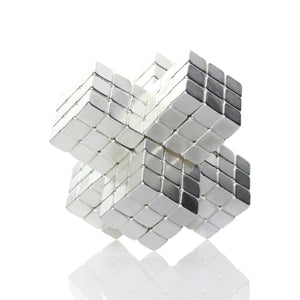 Original 4MM 125PCS Silver Buckycubes Magnetic Building Blocks Cubes Toy