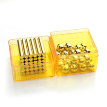 Load image into Gallery viewer, Original 4MM*24MM 36PCS Gold Buckybars + 8MM 27PCS Buckyballs Magnetic Balls Toys