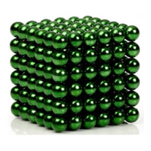 Load image into Gallery viewer, Original 5MM 216PCS Green Buckyballs Magnetic Balls Puzzles Desktop Balls Toys