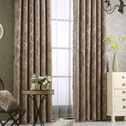 Luxury Geometric Window Curtain