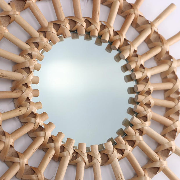 Innovative Rattan Art Mirror
