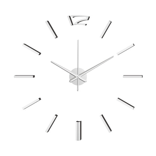 3D Modern Design Wall Clock Sticker