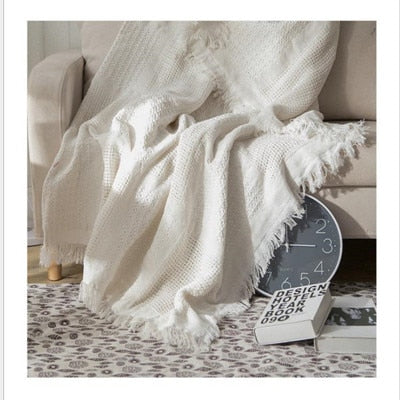 Knitted Cotton Throw Blanket