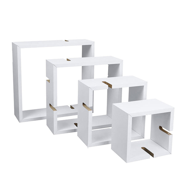 Cube Intersecting Wall Mounted Floating Shelves