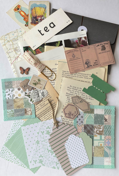 Handmade Envelope Vintage Kit - Green