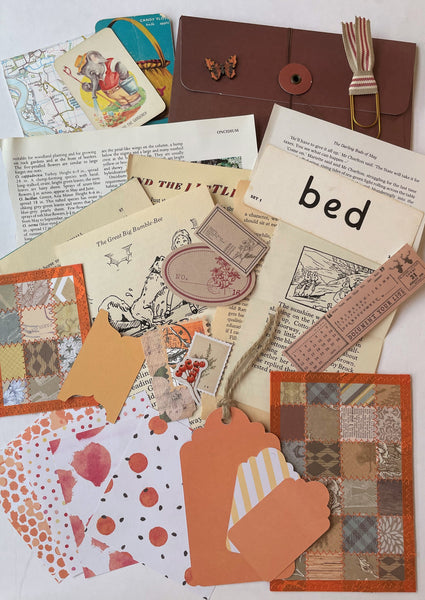 Handmade Envelope Vintage Kit - Orange