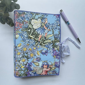 Handmade Fabric Cover Memory Keeping Journal - Flower Fairies