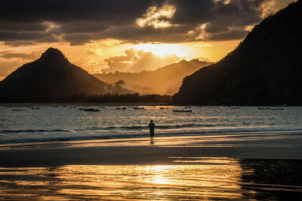 The man and the sunset | Lombok