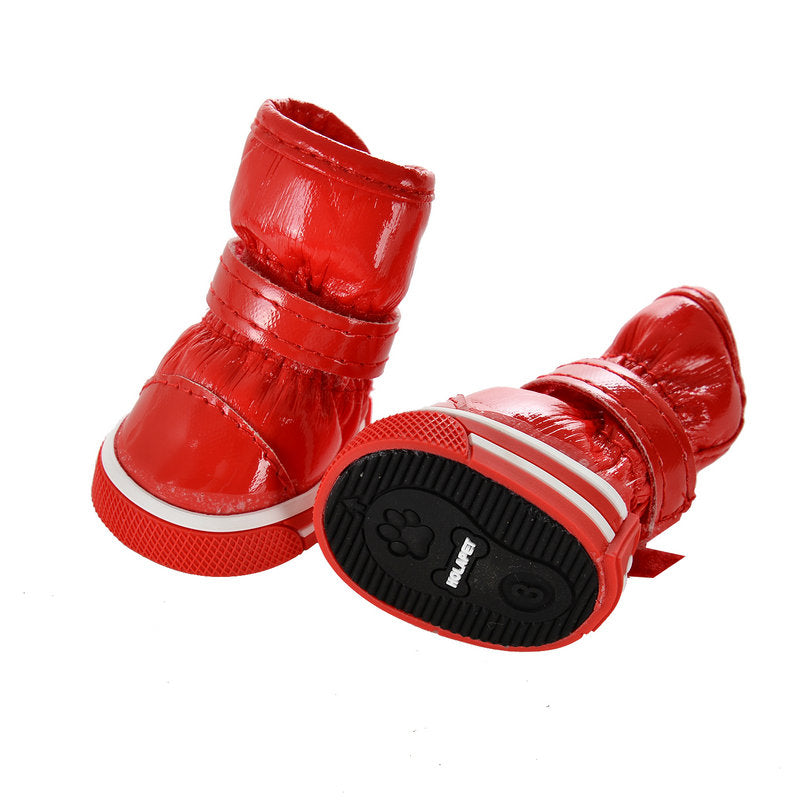 Dog Boots Anti-Slip Waterproof Shoes for Small Dogs 4PCS CUTIE PETS