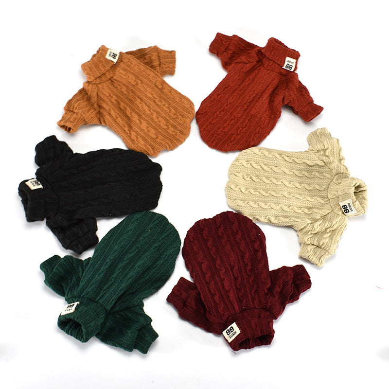 Dog Knitted Turtleneck Cozy Sweater Cutie Pets
