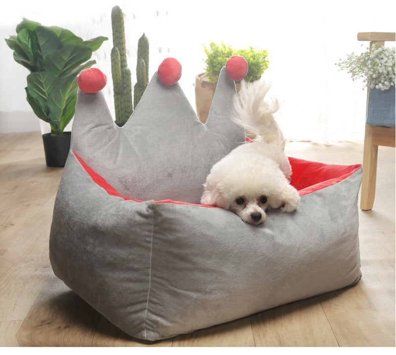 Crown Princess Dog Beds Warm Winter Cat Bed Cutie Pets