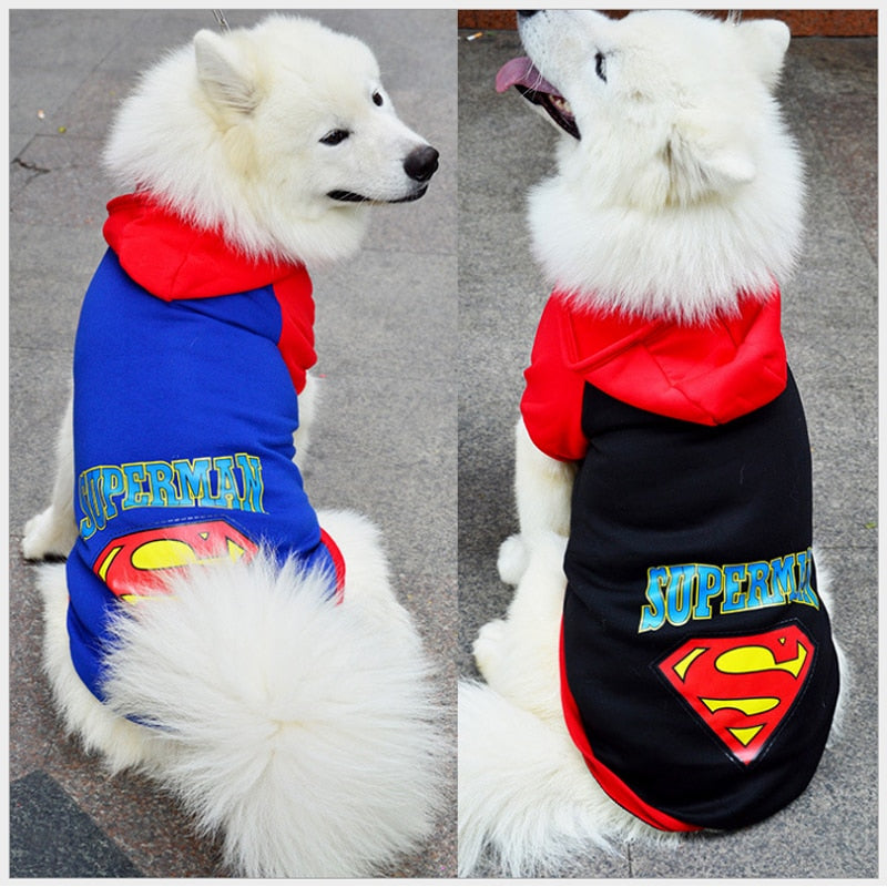 Big Dogs Hoodie Pet Cosplay Superman Cartoon Costumes Cutie Pets
