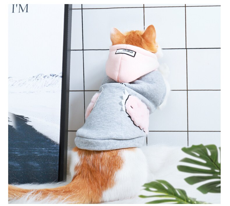Cat Clothes Pet Cat Coats Jacket Hoodies Cutie Pets