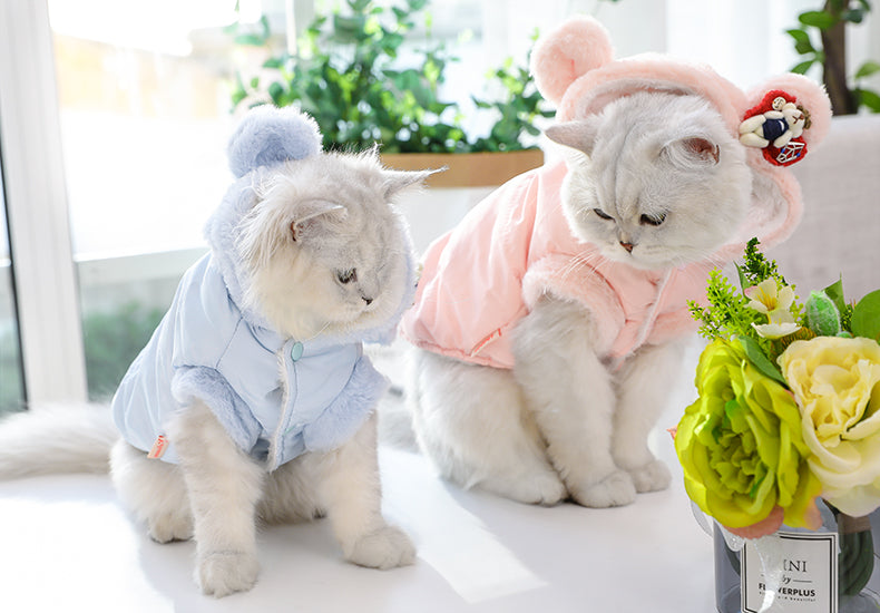 Pet Clothes Dog Cat Winter Warm Cute Clothing Jacket Cutie Pets