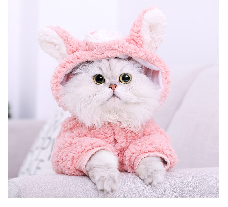 Cat Dog Fleece Puppy Clothing Winter Coat Costume Cutie Pets