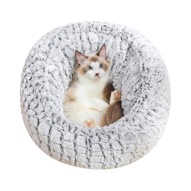 Winter Warm Cat Bed Drawstring Extra Soft Cat Nest Beds Cutie Pets