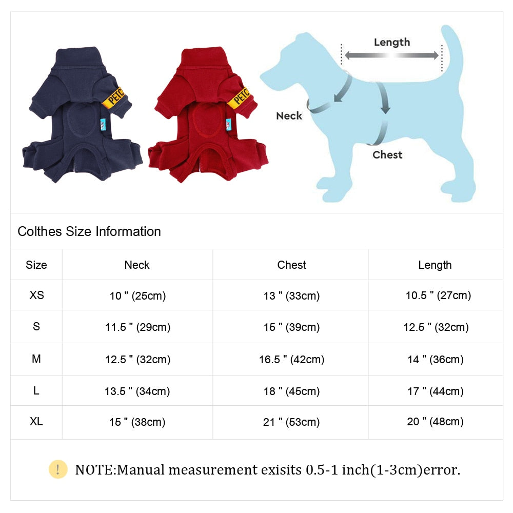Pet Dog Jacket Coat Jumpsuit Thicken Pet Clothing Cutie Pets
