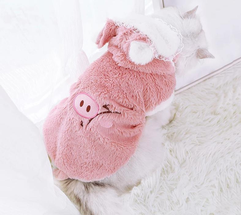 Cat Clothes Winter Pet Puppy Kitten Warm Coat Jacket Cutie Pets