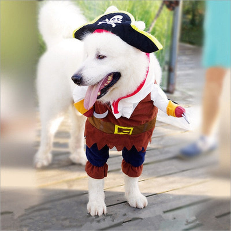 Pet Clothes Cosplay Pirate Dogs Cat Cute Costume Clothing Cutie Pets