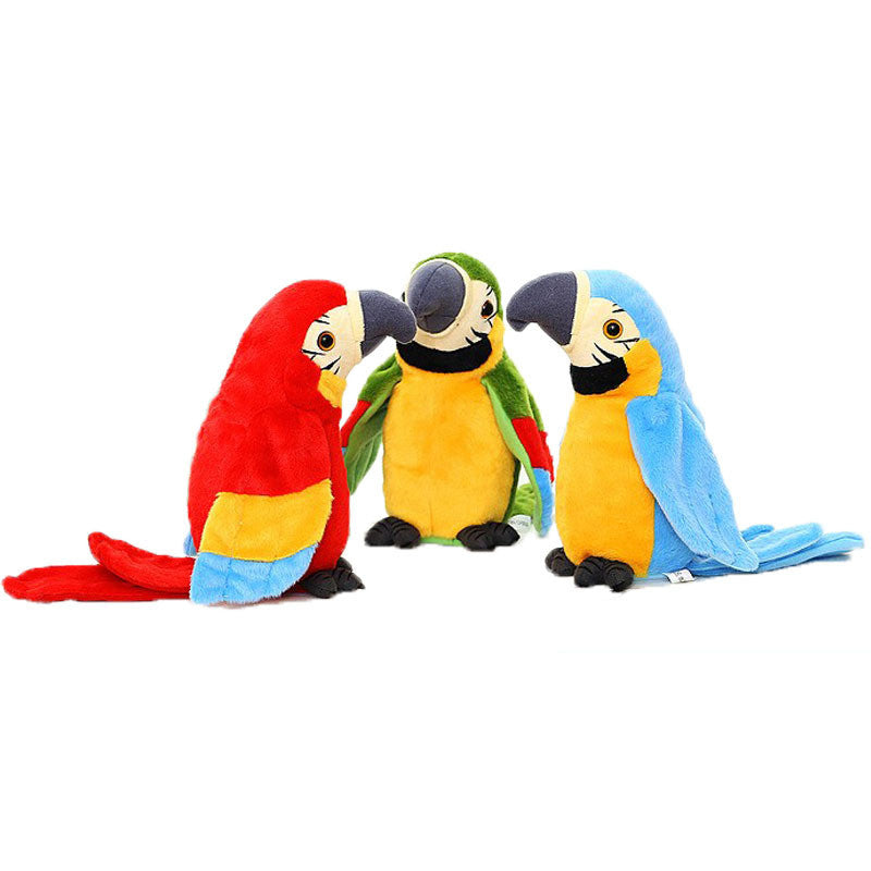 Electric Can Learn To Talk Parrot Fan Wings Dolls Furreal Pets Toy Cutie Pets