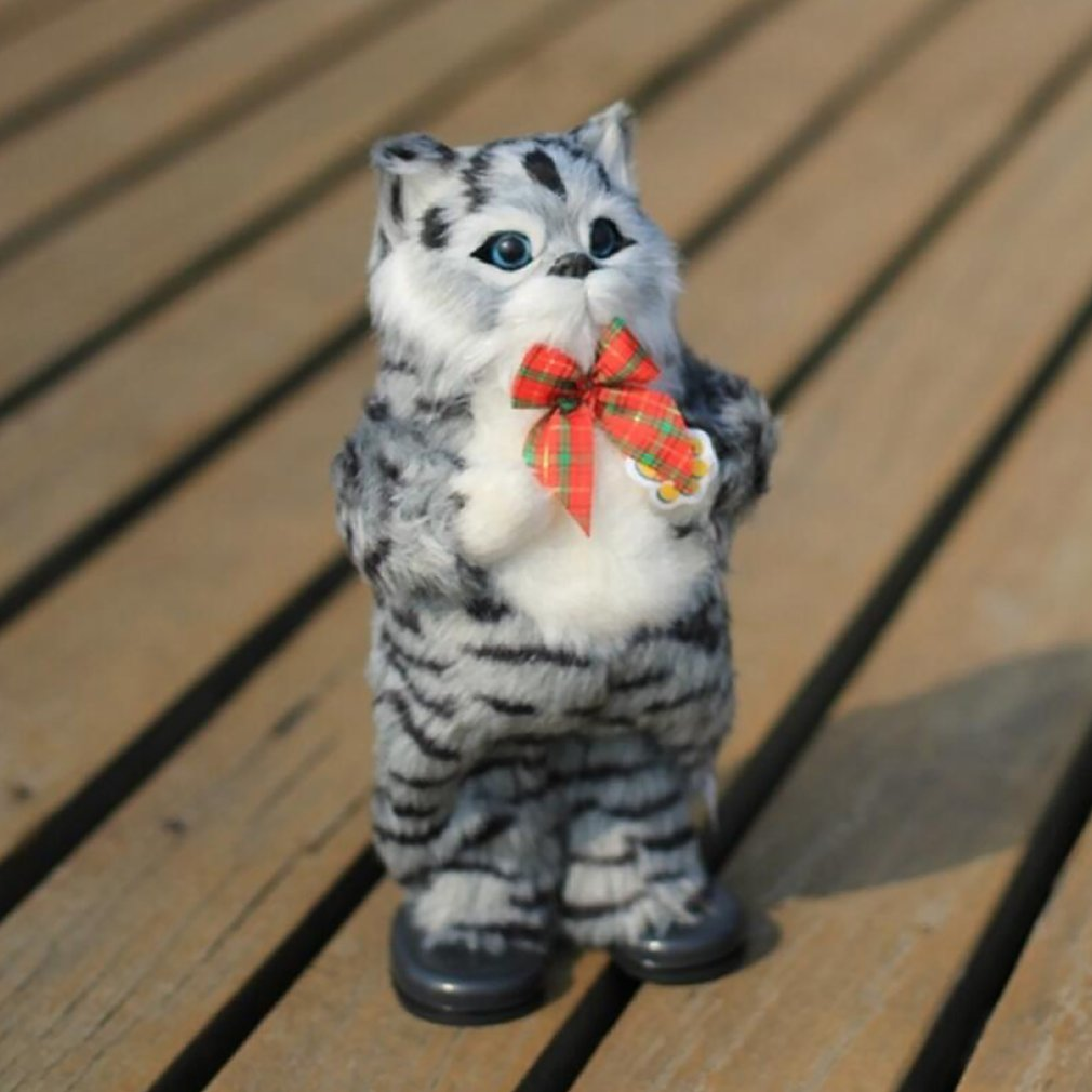 Simulation Cat Electric Yellow Cat Singing And Dancing Furreal Pets Toy Cutie Pets
