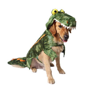 Crocodile Cosplay Costume Warm Wool Winter Dog Cat Clothes Cutie Pets