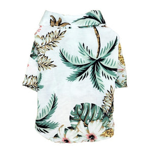 Dog Shirts Clothes Summer Beach Clothes Vest Pet Clothing Floral T-Shirt Hawaiian For Small Large Dog Chihuahua
