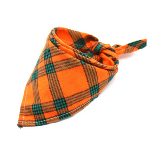 Dog Bandanas Pet Bandana For Dog Cotton Plaid Washable