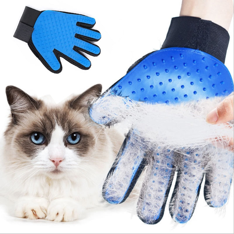 Pet Hair Removal Brush Catnip Animal Hair Brush Finger Glove For Cat Dog Grooming Massage Supply Cleaning Gloves