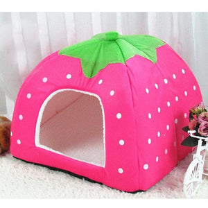Cute Strawberry Dog Bed House Cutie Pets
