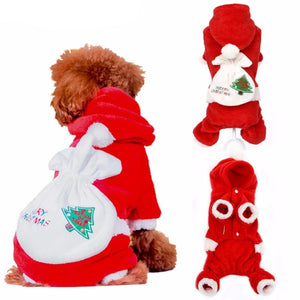 Christmas Suits Soft Santa Claus Costume Cutie Pets