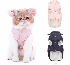 Warm Cotton-padded Small Ears Winter Dog/Cat Vest Cutie Pets