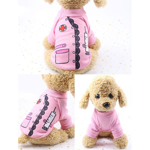 Warm Puppy Shirt Dog Cosplay Clothing Winter Dog Coat Cutie Pets
