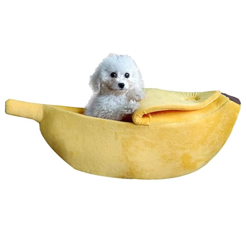 Banana Dog Bed House Soft Warm Cat Beds Cutie Pets