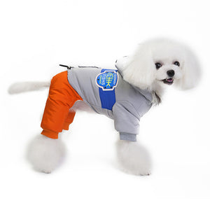 Soft Winter Dog Warm Jumpsuit Clothing Cutie Pets