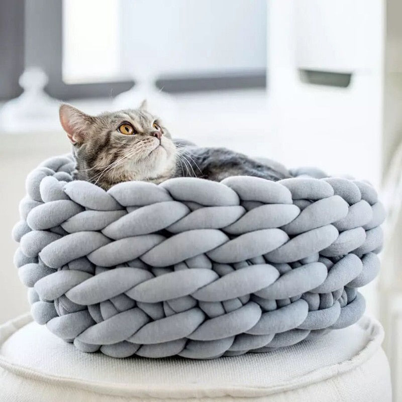Handmade Knit Cat Bed Cutie Pets