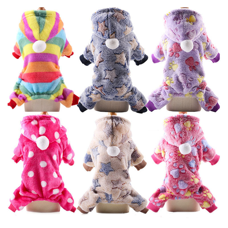 Fleece Dog Jumpsuit Winter  Clothes Cutie Pets
