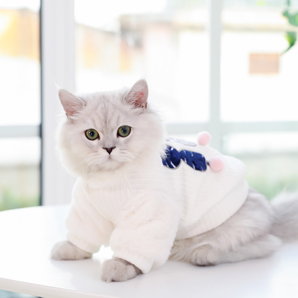Pet Cat Dog Clothing Thicken Warm Christmas Clothes Cutie Pets