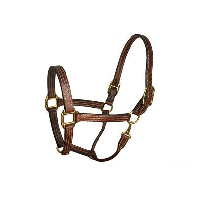 "1"" Horse Havana Leather Stable Halter"