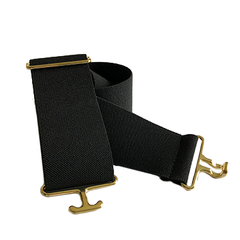 Black + Brass Elastic Belt