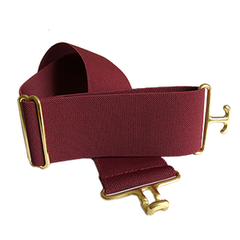 Burgundy + Brass Elastic Belt