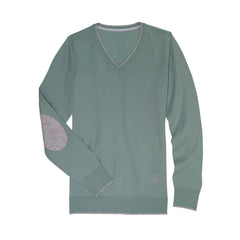 Mint Green Trey V-Neck Sweater
