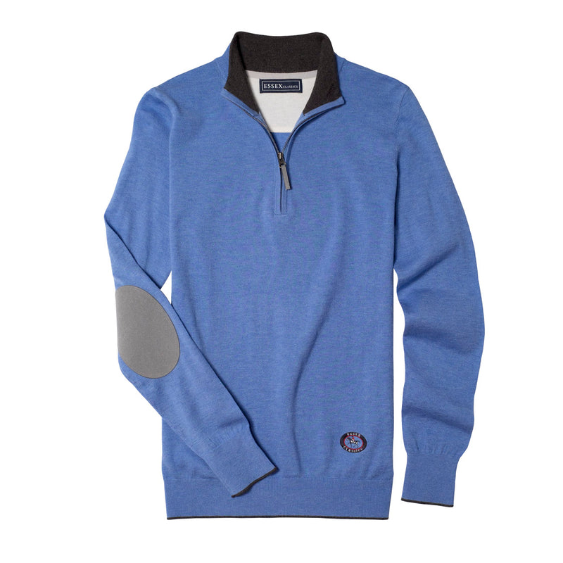 Light Blue Trey Quarter-Zip Sweater