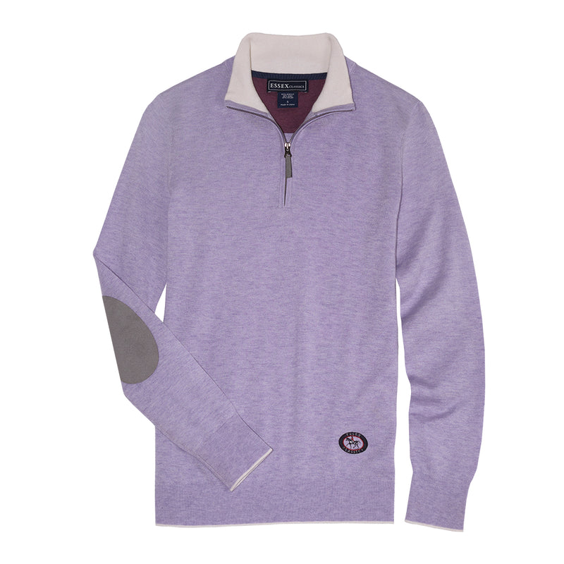 Lilac Trey Quarter-Zip Sweater