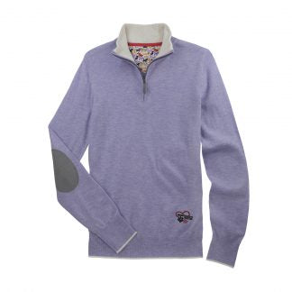 "Danny & Ron's Lavender ""Trey"" Quarter-Zip Sweater"