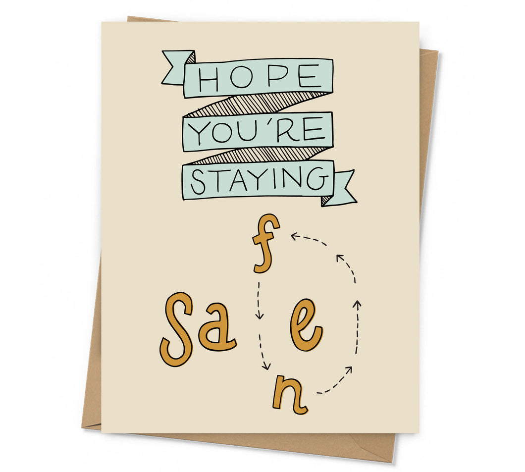Stay Safe/Sane Card