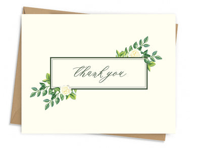 Elegant Floral Thank You Card
