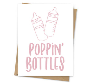 Poppin' Bottles Baby Card