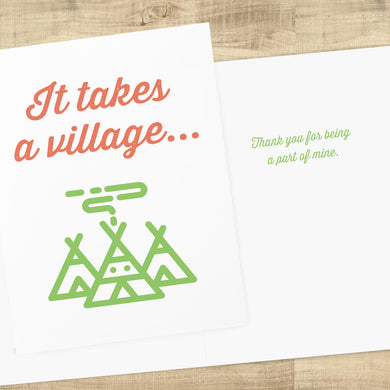 It Takes A Village Thank You Card